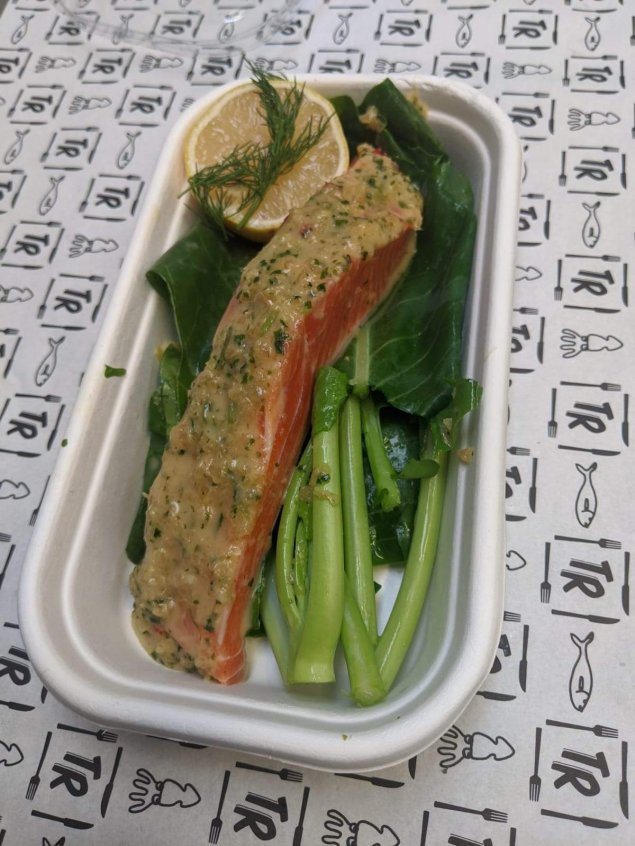 Asian Marinated Ocean Trout with Chinese Broccoli